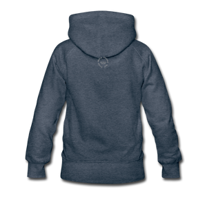 Kingston Women's Premium Hoodie - heather denim