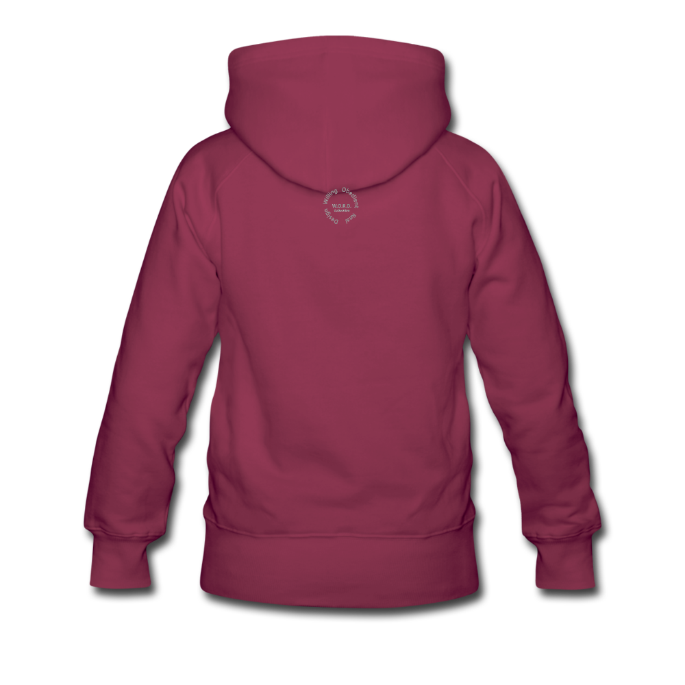 NO FEAR Women's Premium Hoodie - burgundy
