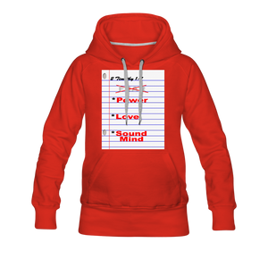 NO FEAR Women's Premium Hoodie - red
