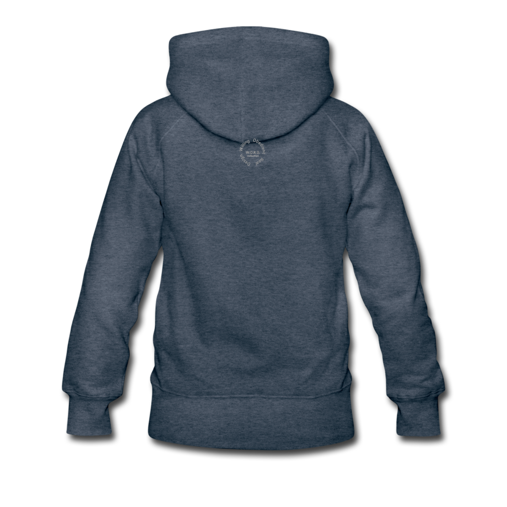 NO FEAR Women's Premium Hoodie - heather denim