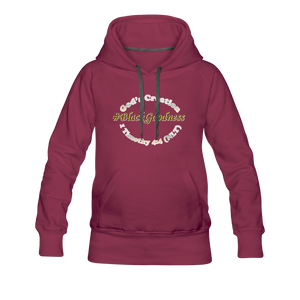 Black Goodness Women's Premium Hoodie - burgundy