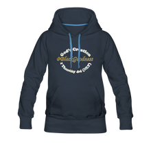 Load image into Gallery viewer, Black Goodness Women's Premium Hoodie - navy