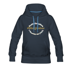 Black Goodness Women's Premium Hoodie - navy