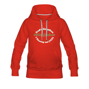 Black Goodness Women's Premium Hoodie - red