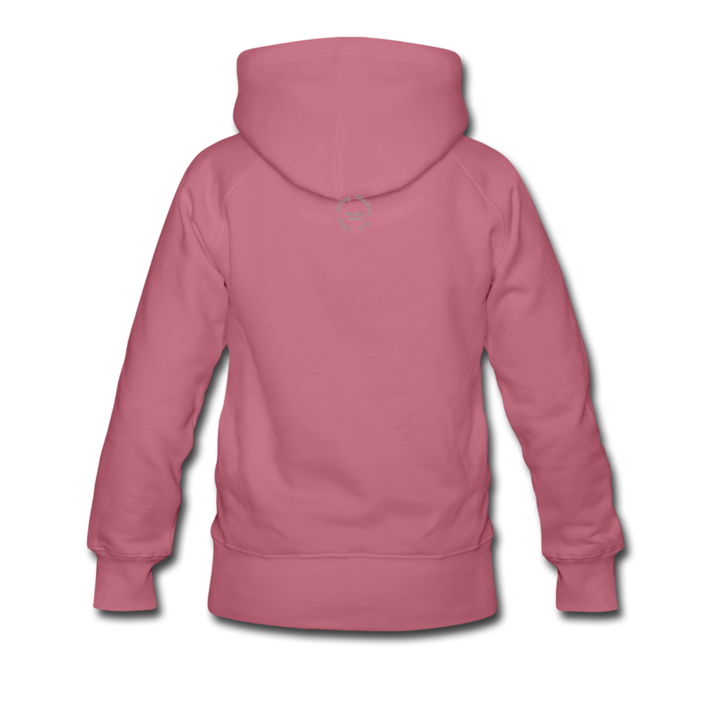Black Goodness Women's Premium Hoodie - mauve
