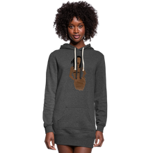 Load image into Gallery viewer, Proverbs 31 Loc Lady Hoodie Dress - heather black