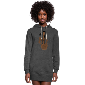Proverbs 31 Loc Lady Hoodie Dress - heather black