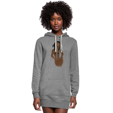Proverbs 31 Loc Lady Hoodie Dress - heather gray