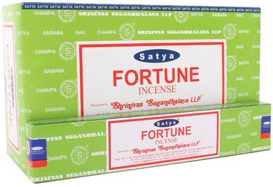 12 Packs of Fortune Incense Sticks by Satya | Force of Life Spiritual & Holistic Shop | Forceoflife.co.uk