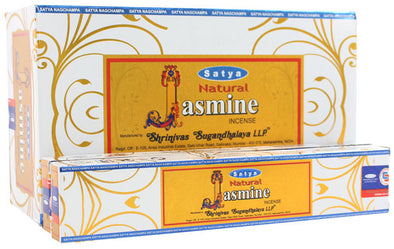 12 Packs of Natural Jasmine Incense Sticks by Satya | Force of Life Spiritual & Holistic Shop | Forceoflife.co.uk