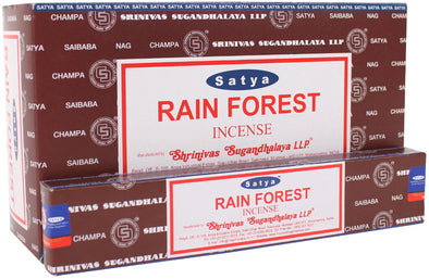 12 Packs of Rainforest Incense Sticks by Satya | Force of Life Spiritual & Holistic Shop | Forceoflife.co.uk