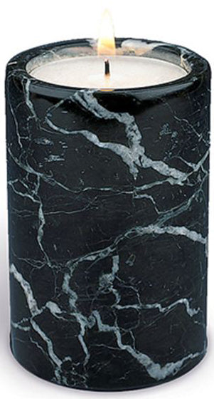 Black Marble Tealight Candle Holder Tall | Force of Life Spiritual & Holistic Shop | Forceoflife.co.uk