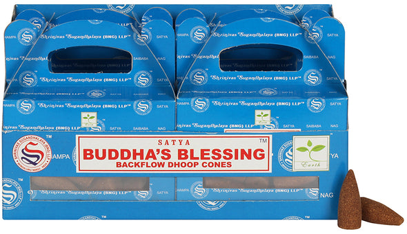 Box of 6 Buddha's Blessing Backflow Dhoop Cones | Force of Life Spiritual & Holistic Shop | Forceoflife.co.uk