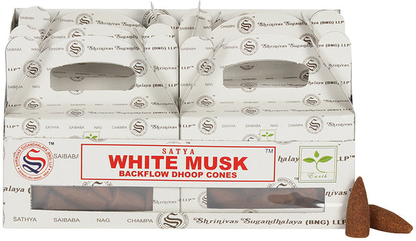 Box of 6 White Musk Backflow Dhoop Cones | Force of Life Spiritual & Holistic Shop | Forceoflife.co.uk