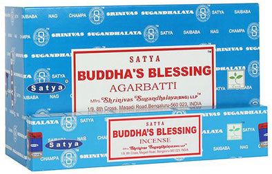 12 Packs of Buddha Blessing Nag Champa Incense Sticks by Satya | Force of Life Spiritual & Holistic Shop | Forceoflife.co.uk