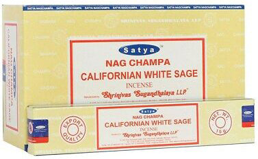 12 Packs of Californian White Sage Incense Sticks by Satya | Force of Life Spiritual & Holistic Shop | Forceoflife.co.uk