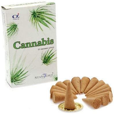 Cannabis - Stamford Incense Cones | Force of Life Spiritual & Holistic Shop | Forceoflife.co.uk
