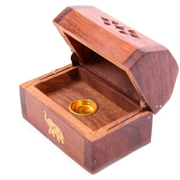 Elephant Cone Box With Hinged Lid | Force of Life Spiritual & Holistic Shop | Forceoflife.co.uk