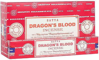 12 Packs of Dragon's Blood Incense Sticks by Satya | Force of Life Spiritual & Holistic Shop | Forceoflife.co.uk