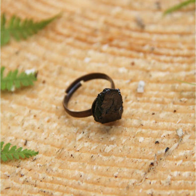 Elite Shungite Copper Plated Adjustable Ring | Force of Life Spiritual & Holistic Shop | Forceoflife.co.uk