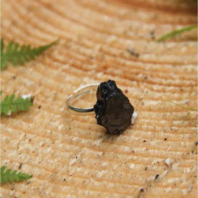 Elite Shungite Silver Plated Ring | Force of Life Spiritual & Holistic Shop | Forceoflife.co.uk