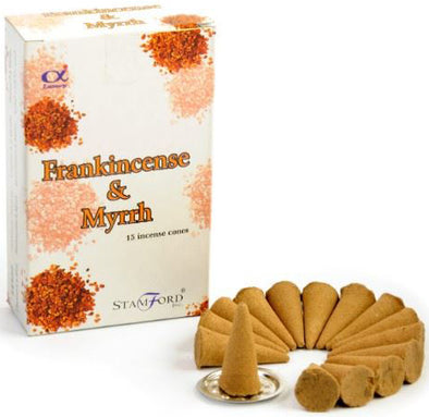 Frankincense & Myrrh - Stamford Incense Cones | Force of Life Spiritual & Holistic Shop | Forceoflife.co.uk
