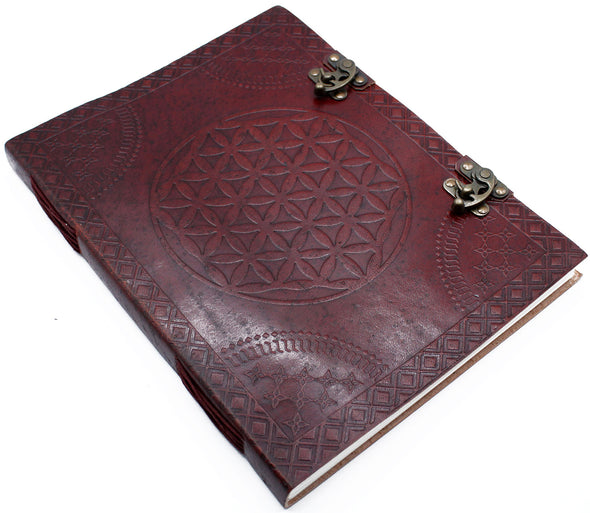 Huge Flower of Life Leather Book | Force of Life Spiritual & Holistic Shop | Forceoflife.co.uk