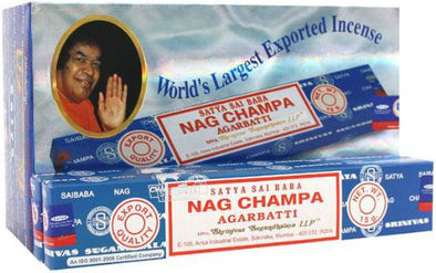 12 Packs of Nag Champa Incense Sticks by Satya | Force of Life Spiritual & Holistic Shop | Forceoflife.co.uk