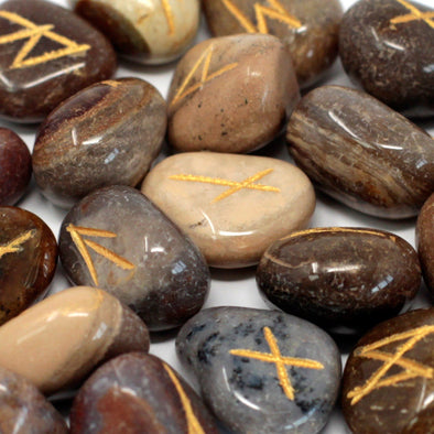 Fancy Jasper Runes Stone Set | Force of Life Spiritual & Holistic Shop | Forceoflife.co.uk