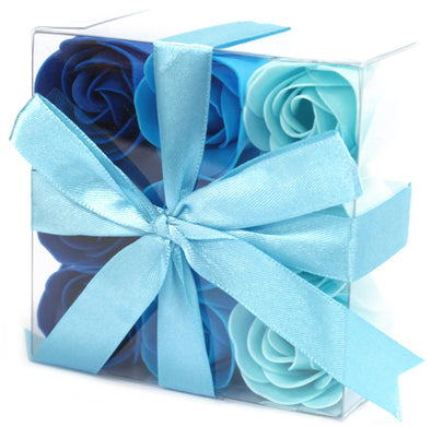 Blue Wedding Roses Soap Flowers (Set of 9) | Force of Life Spiritual & Holistic Shop | Forceoflife.co.uk