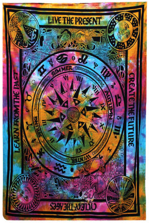 Cycle of Ages Single Cotton Bedspread/Wall Hanging | Force of Life Spiritual & Holistic Shop | Forceoflife.co.uk