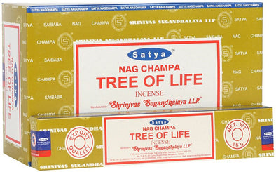 12 Packs of Tree of Life Nag Champa Incense Sticks by Satya | Force of Life Spiritual & Holistic Shop | Forceoflife.co.uk
