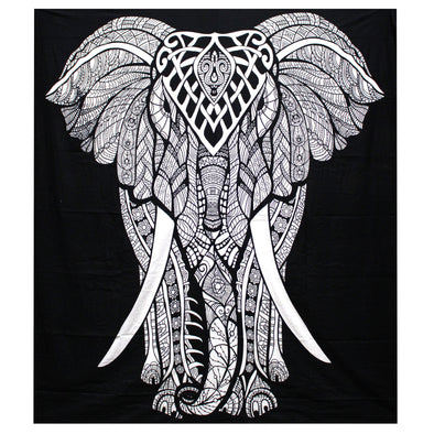Elephant Double Cotton Bedspread/Wall Hanging | Force of Life Spiritual & Holistic Shop | Forceoflife.co.uk