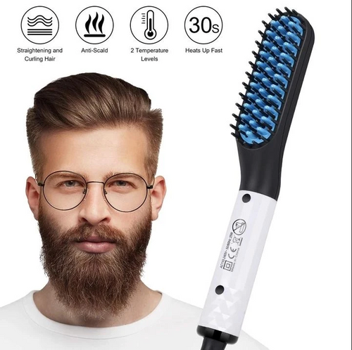 Hair and Beard Straightener for Men