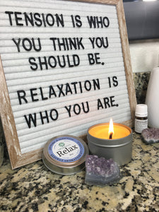 Aromatherapy Beeswax Candle - Relax