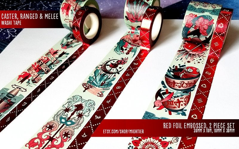 Final Fantasy XIV DPS Washi Tape