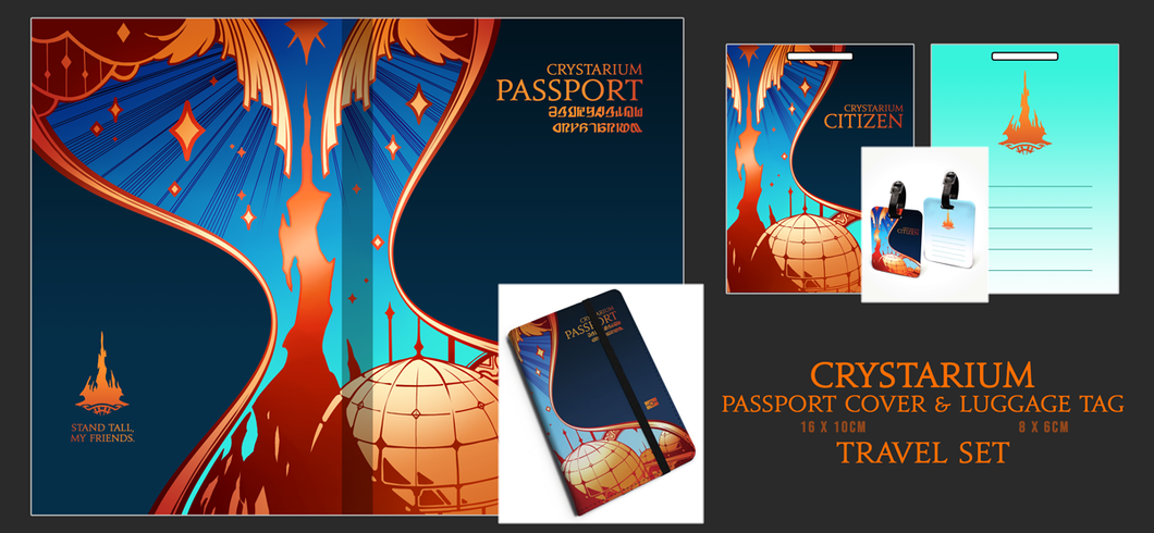 Crystarium Citizen Passport Cover and Luggage Tag Travel Set