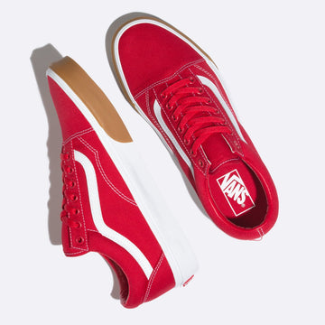 Vans Gum Bumper Old Skool - RED-WHT-UK1