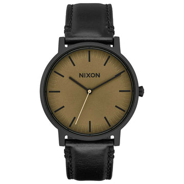 Nixon Porter Leather 40MM BLACK-SAGE-BLACK