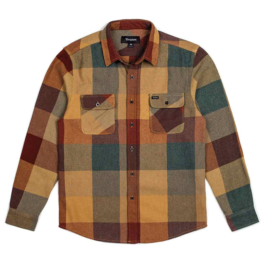 Brixon Mens Bowery Flannel RUST-COPPER