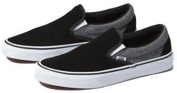 Vans Suede Slip On SUIT-BLACK V3E