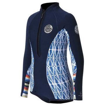 Rip Curl Junior Girls G-Bomb L/S Spring Hi Cut - CLEARANCE