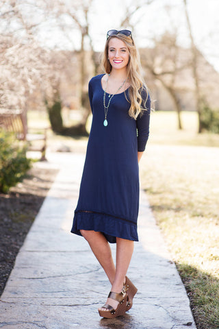 modest knee length dress