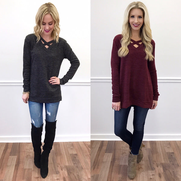 Gwen // Sloan Criss-Cross Sweater