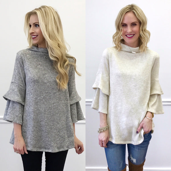Piper Street Jensen // Tatum Statement Sleeve Sweaters