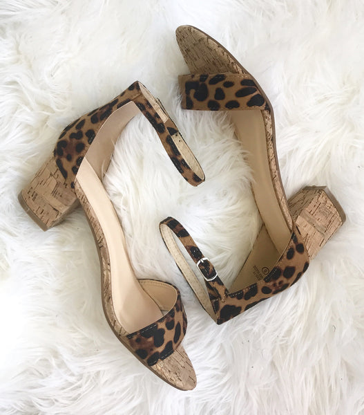 Ashton Leopard Block Heel Sandals | Piper Street