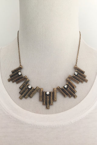 Jewelry - Antiqued Gold Statement Necklace