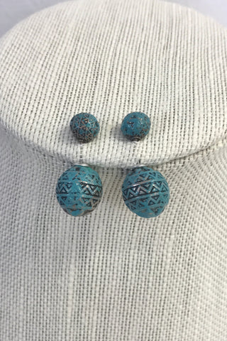 Turquoise Double Sided Stud Earrings