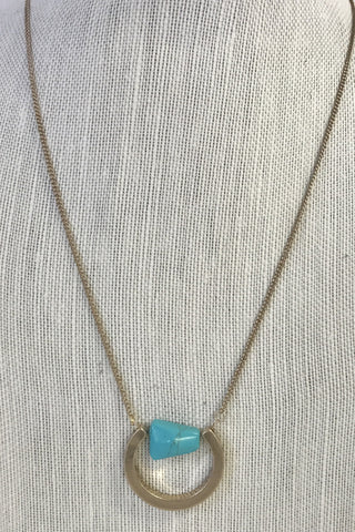 Turquoise Long Pendant Necklace