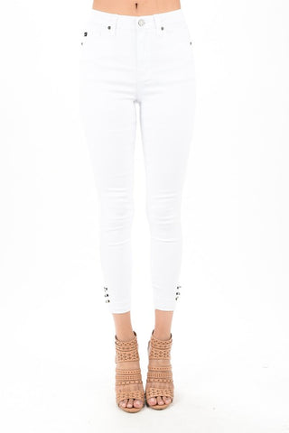 Bailey White Ankle Denim
